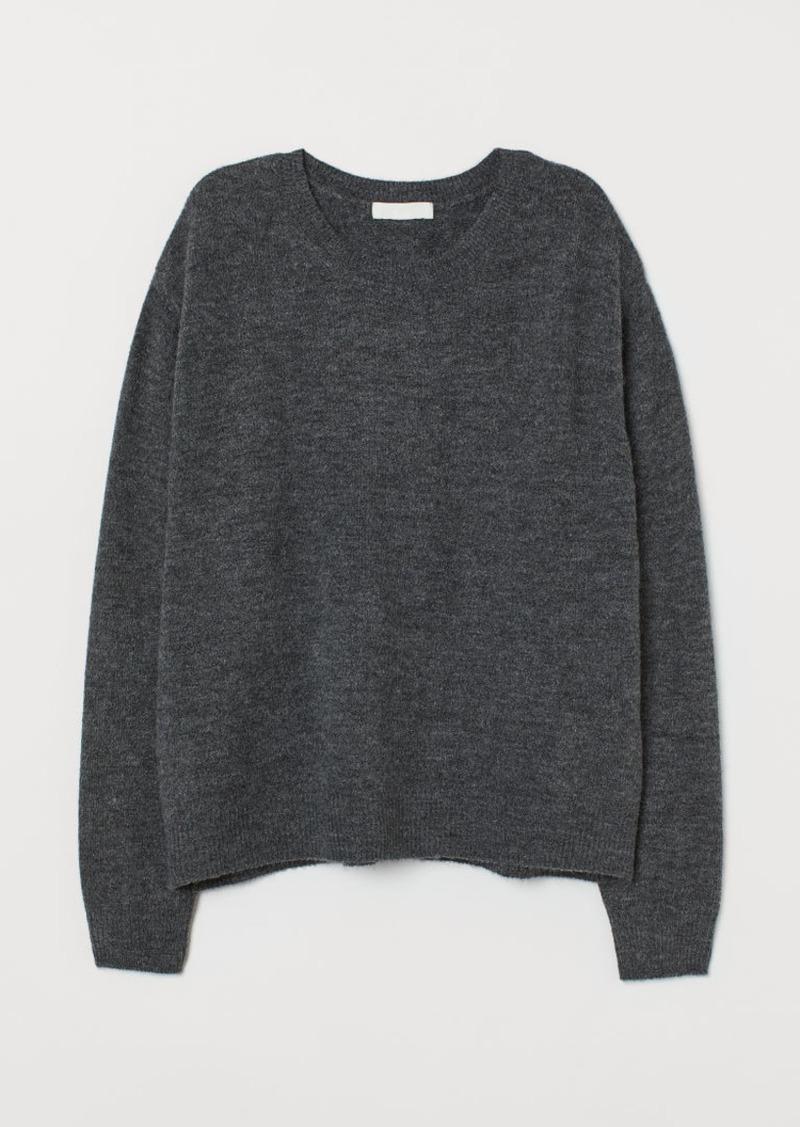 H&M H & M - Fine-knit Sweater - Gray