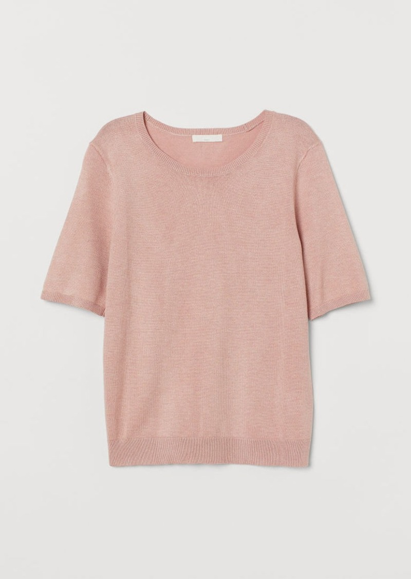 H&M H & M - Fine-knit Sweater - Pink