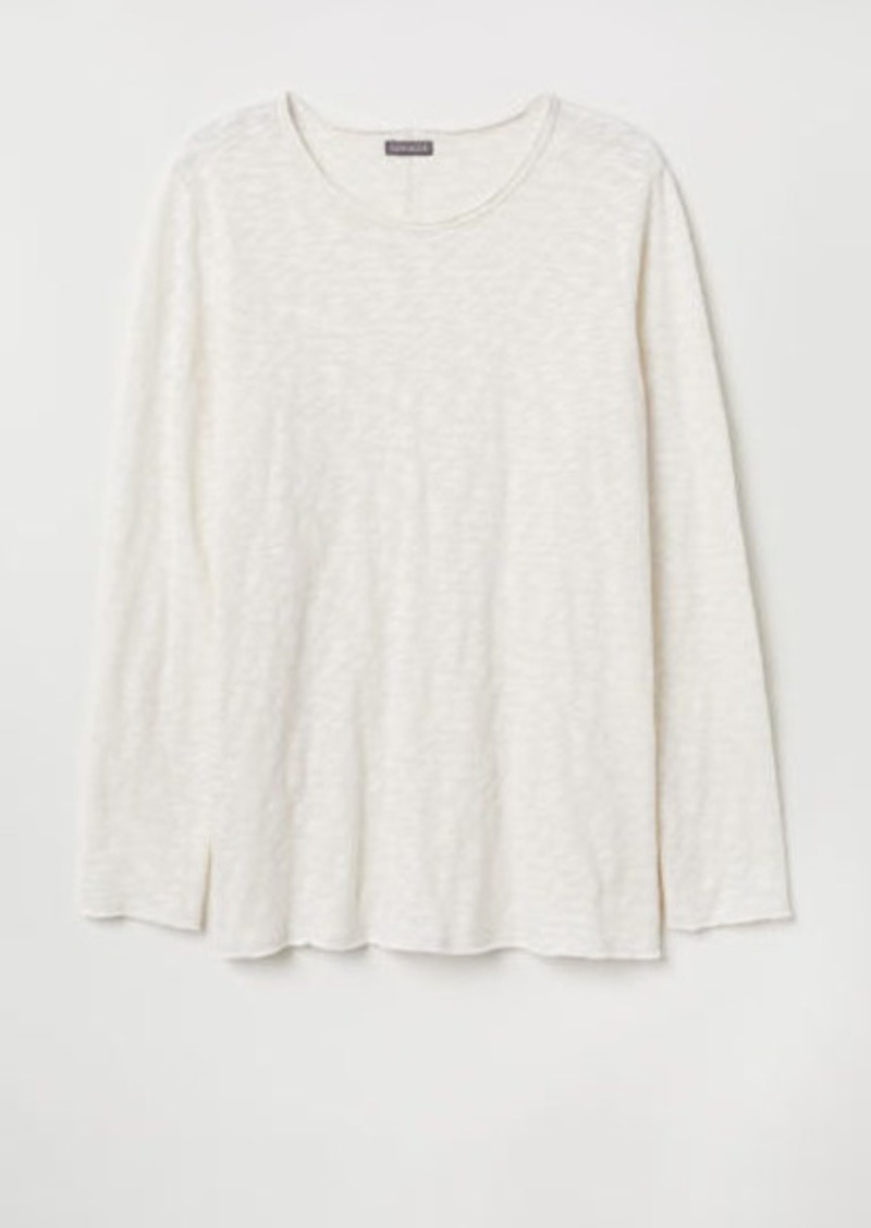 H&M H & M - Fine-knit Sweater - White