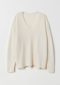 H&M H & M - Fine-knit Sweater - White
