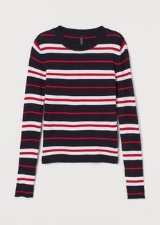 H&M H & M - Fine-knit Top - Blue