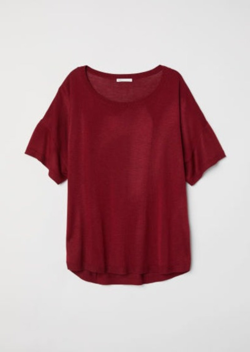 H&M H & M - Fine-knit Top - Red