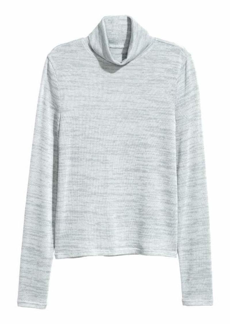 78244fc95 H M H   M - Fine-knit Turtleneck Sweater - Light blue melange ...