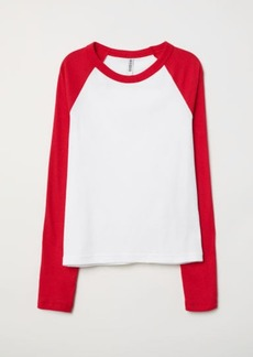 H&M H & M - Fitted Baseball Shirt - Red