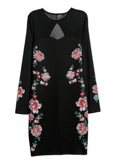 H&M H & M - Fitted Dress - Black