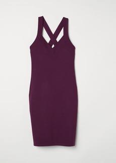 H&M H & M - Fitted Dress - Purple