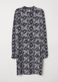 H&M H & M - Fitted Jersey Dress - Black