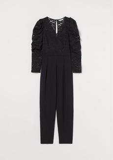 H&M H & M - Fitted Jumpsuit - Black
