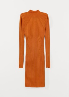 H&M H & M - Fitted Knit Dress - Yellow