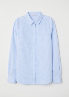 H&M H & M - Fitted Shirt - Blue