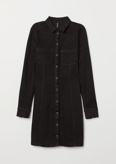 H&M H & M - Fitted Shirt Dress - Black