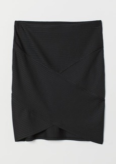 H&M H & M - Fitted Skirt - Black
