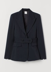H&M H & M - Fitted Wool-blend Jacket - Blue