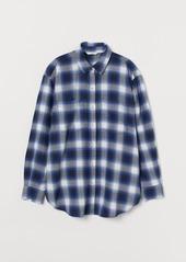 H&M H & M - Flannel Shirt - Blue