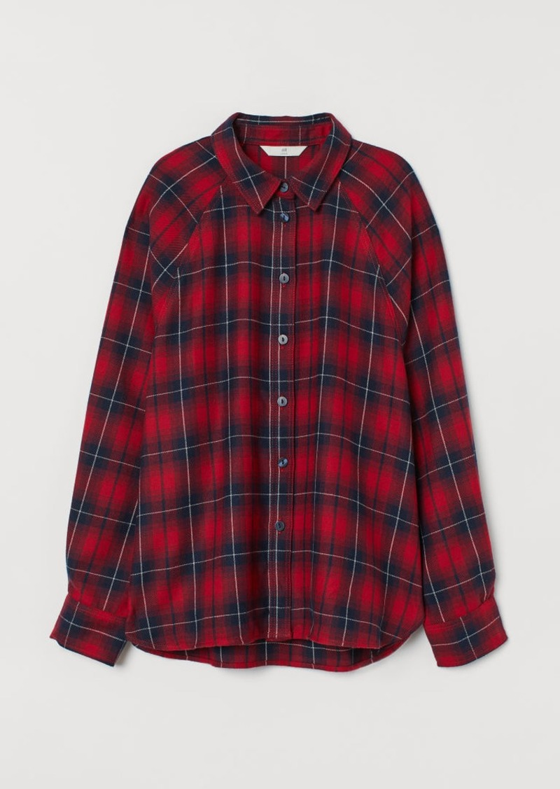 H&M H & M - Flannel Shirt - Red