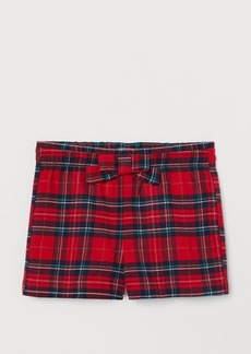 H&M H & M - Flannel Shorts - Red
