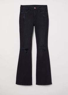 H&M H & M - Flare High Jeans - Gray