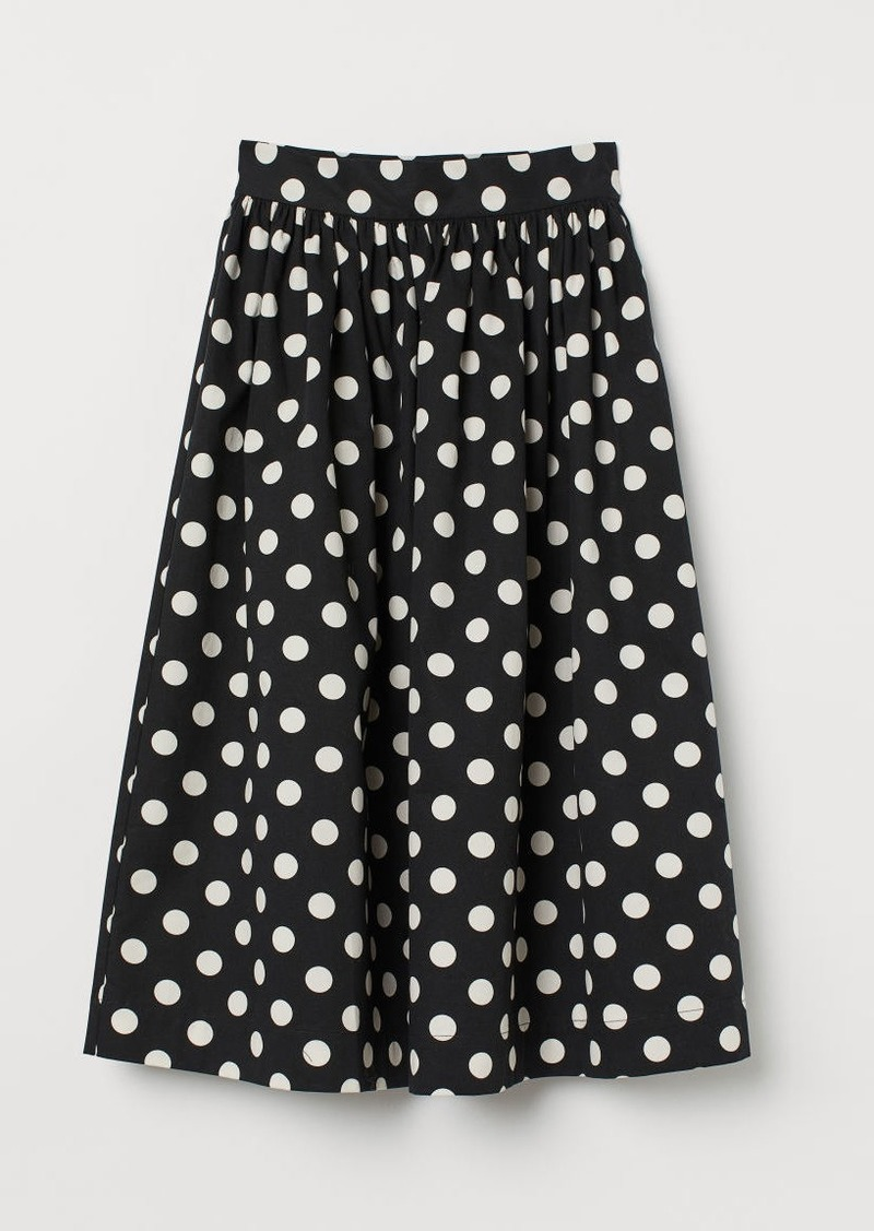 H&M H & M - Flared Skirt - Black