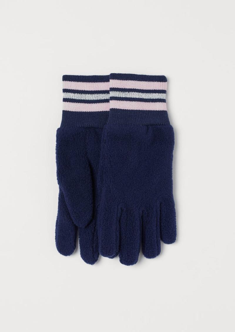 H&M H & M - Fleece Gloves - Blue