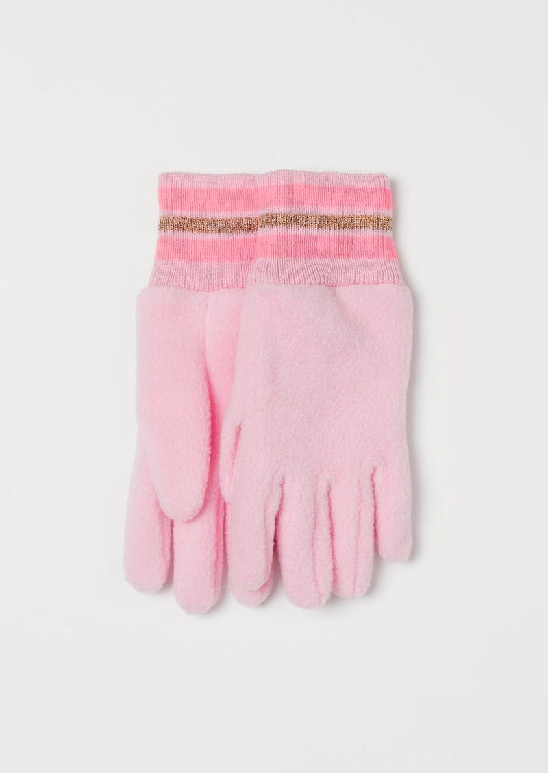 H&M H & M - Fleece Gloves - Pink