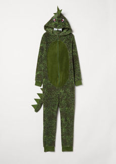 H&M H & M - Fleece Jumpsuit - Green