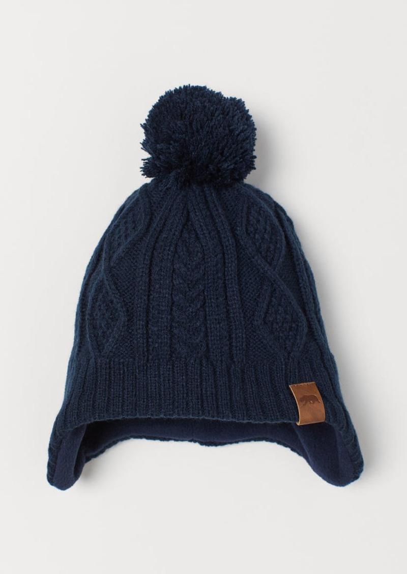 H&M H & M - Fleece-lined Hat - Blue
