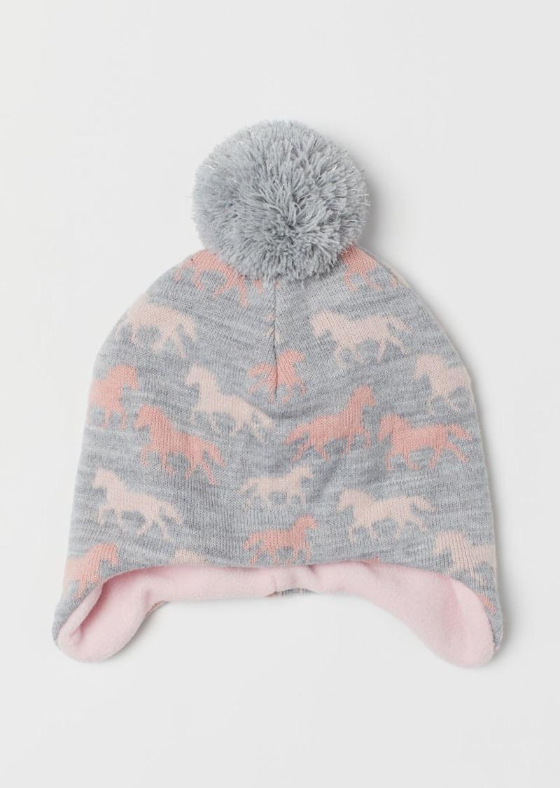 H&M H & M - Fleece-lined Hat - Gray
