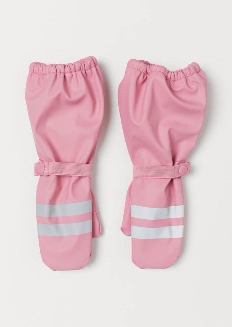 H&M H & M - Fleece-lined Rain Mittens - Pink