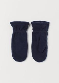 H&M H & M - Fleece Mittens - Blue