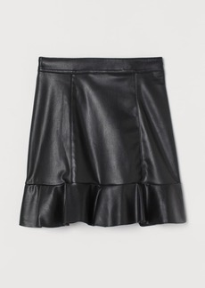 H&M H & M - Flounced Skirt - Black