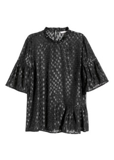 H&M H & M - Flounced Top - Black