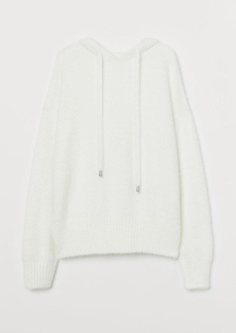 H&M H & M - Fluffy Hoodie - White