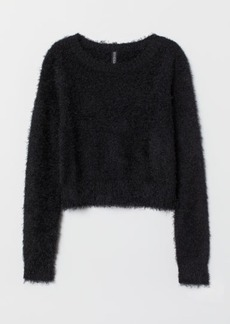 H&M H & M - Fluffy Sweater - Black