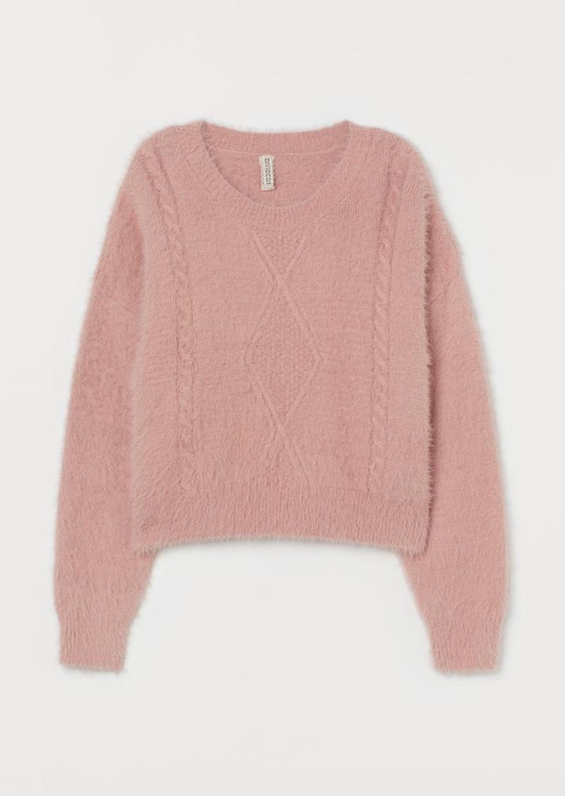 H&M H & M - Fluffy Sweater - Pink