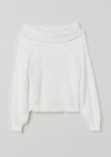 H&M H & M - Fluffy Sweater - White