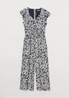 H&M H & M - Flutter-sleeved Jumpsuit - Blue