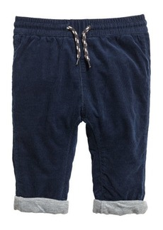 H&M H & M - Fully Lined Corduroy Pants - Blue