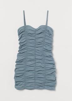 H&M H & M - Gathered Dress - Turquoise