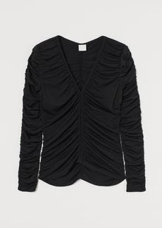 H&M H & M - Gathered Top - Black