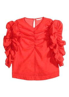 H&M H & M - Georgette Blouse - Red