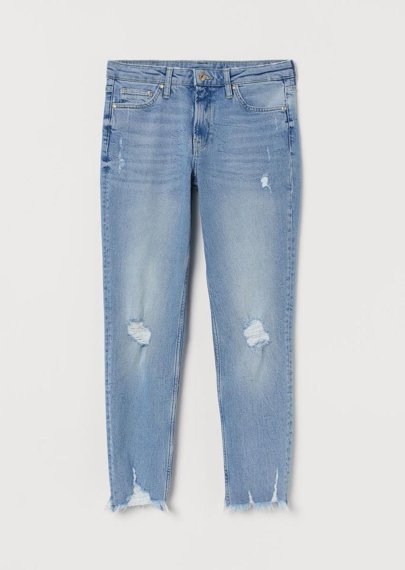 H&M H & M - Girlfriend Regular Jeans - Blue