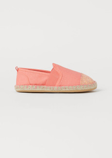 H&M H & M - Glitter-detail Espadrilles - Pink