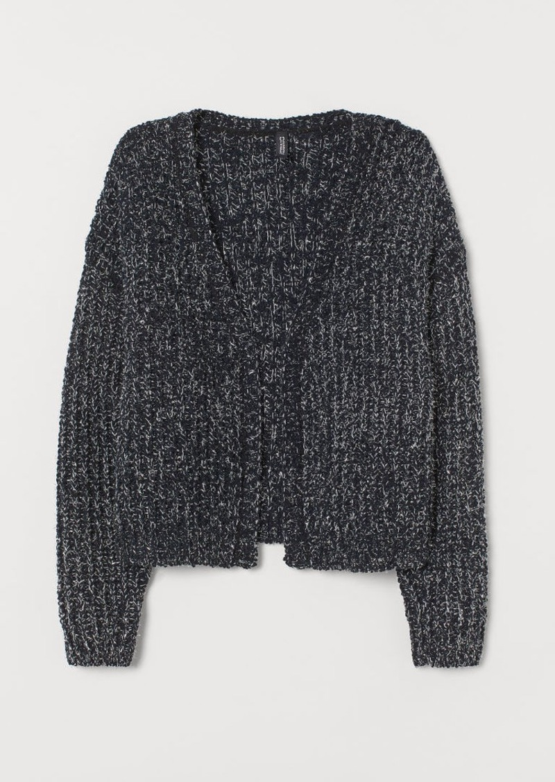 H&M H & M - Glittery Cardigan - Black