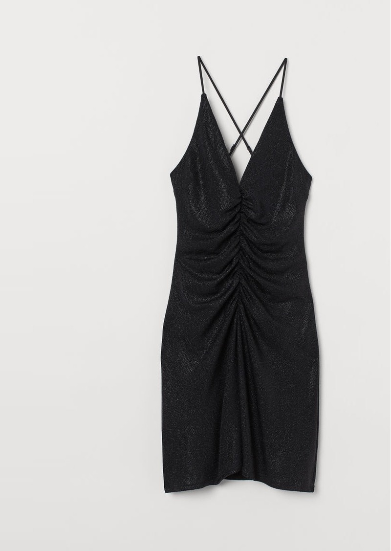 H&M H & M - Glittery Dress - Black