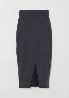 H&M H & M - Glittery Jersey Skirt - Black