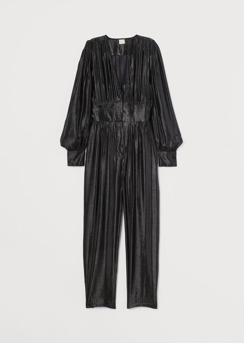 H&M H & M - Glittery Jumpsuit - Black