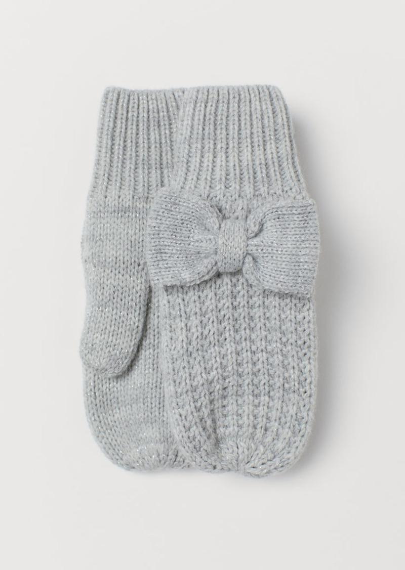 H&M H & M - Glittery Mittens - Gray