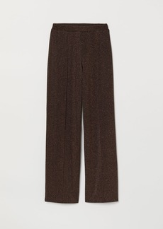 H&M H & M - Glittery Pants - Brown