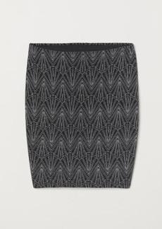 H&M H & M - Glittery Skirt - Black
