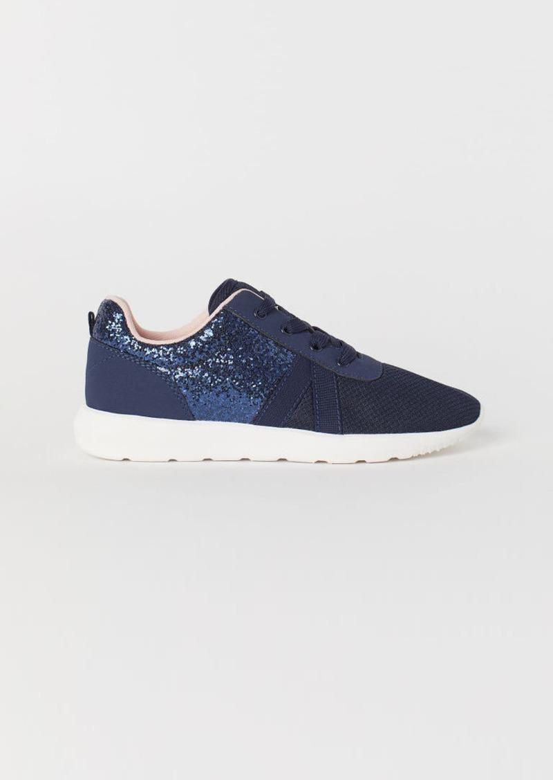 H&M H & M - Glittery Sneakers - Blue